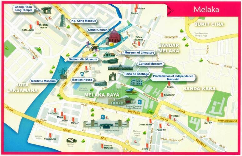 Malacca-Travel-Map