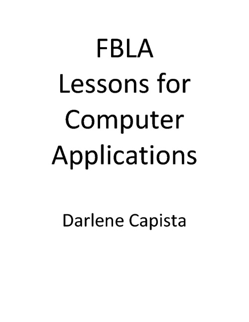 FBLA Computer Applications Activities