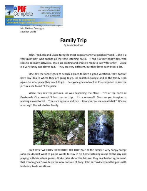 Kevin Sandoval - Family Trip