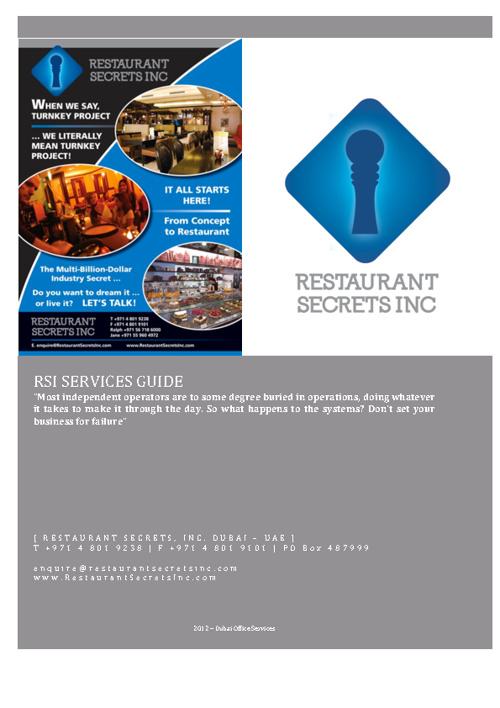 Restaurant Secrets, Inc.
