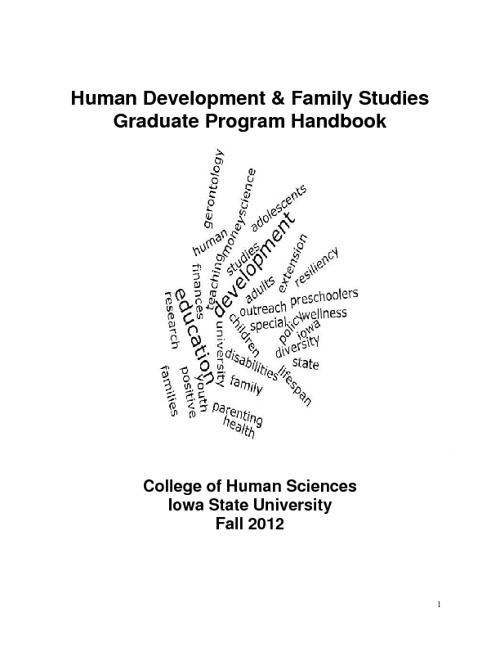 HDFS Graduate Student Handbook 12-13