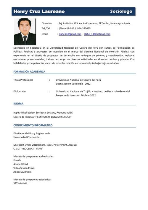 CV Henry Cruz Laureano