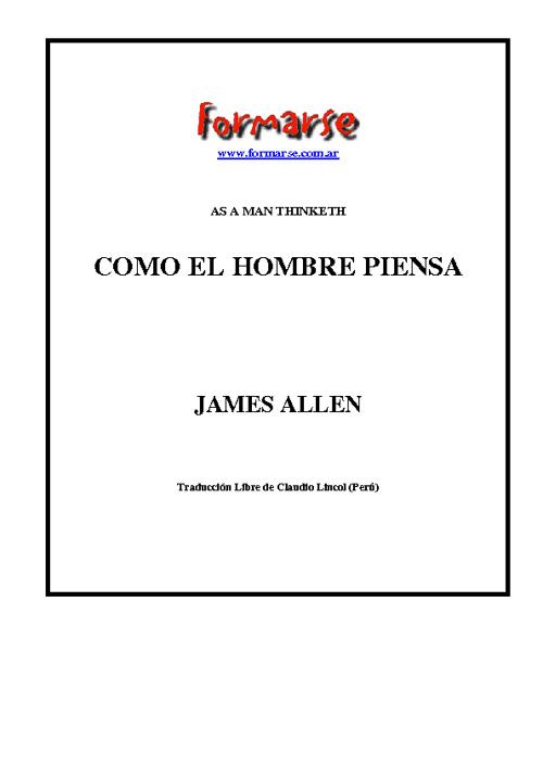 Allen, James - Como el Hombre Piensa