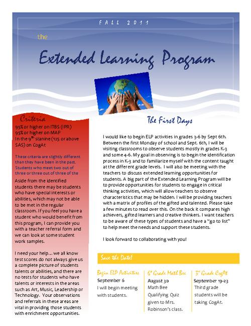 K-6 ELP Program