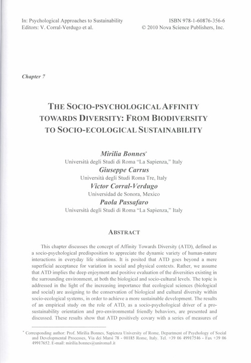 Chapter 7. The Socio-Psychological Affinity Towards Diversity
