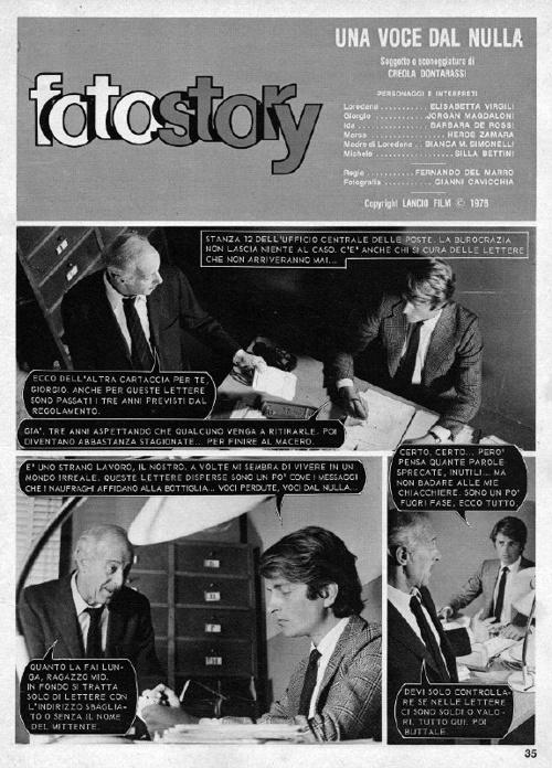 FOTOSTORY - UNA VOCE DAL NULLA - KISS N. 14 GENNAIO 1979