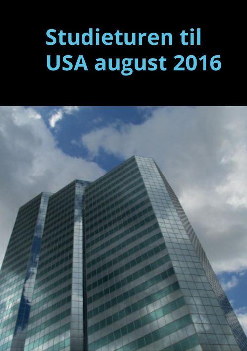 Studieturen til USA august 2016