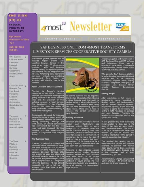 4most Newsletter December 2014