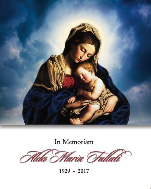 Memorial Card for Alda Maria Fallati