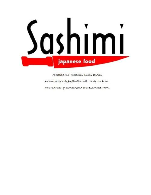 Nuevo Menu Sashimi