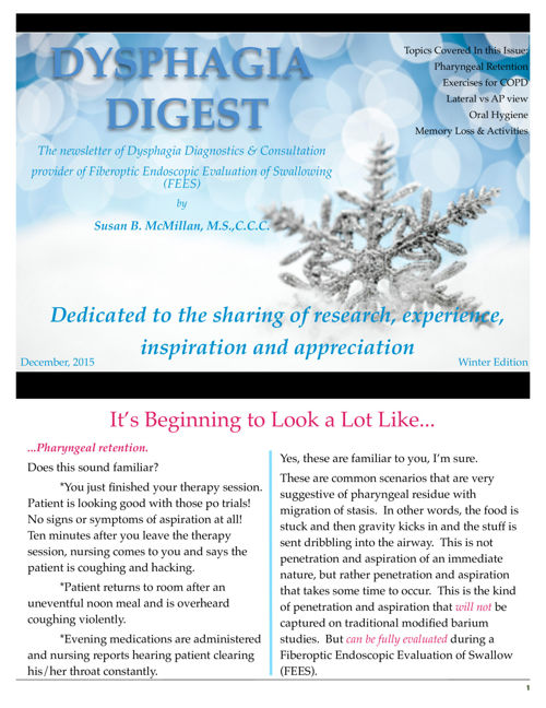 Dysphagia Diagnostics Digital Digest