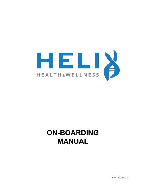 On Boarding Manual