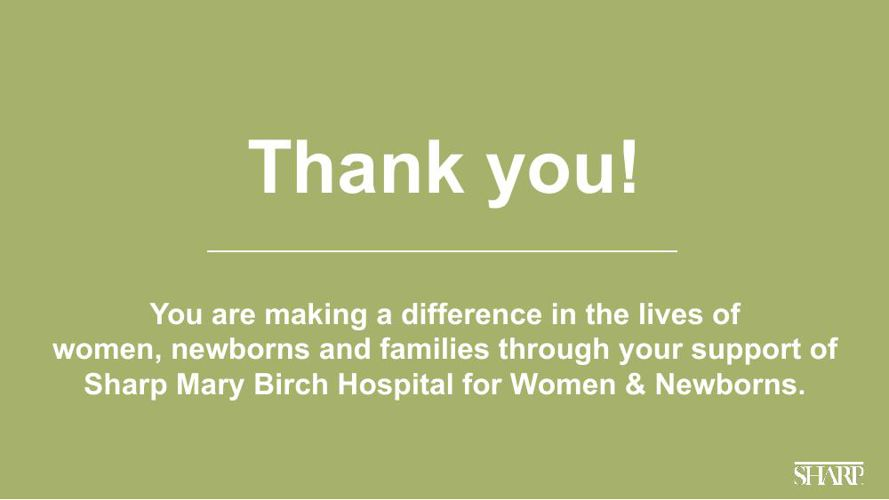 Sharp Mary Birch 2015 Report on Giving