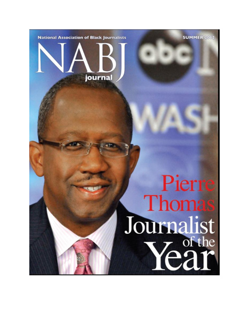 Pierre Thomas 2012 NABJ Journalist of the Year Award