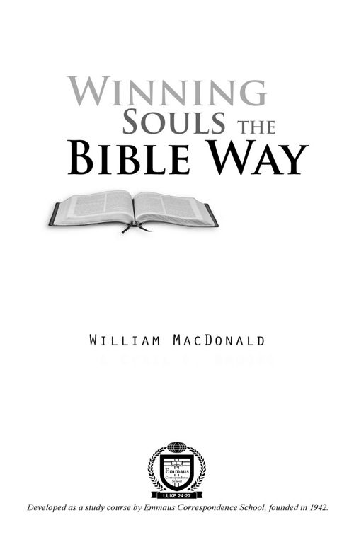 Winning Souls the Bible Way PDF