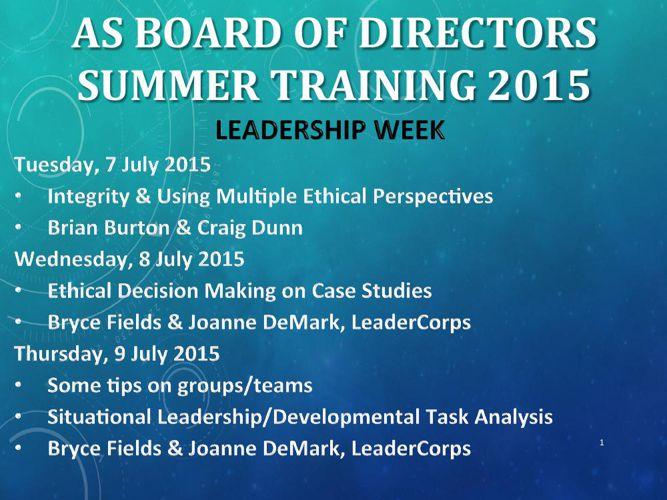 FlipBook_AS BOD Summer Leadership Week 2015