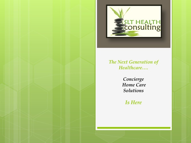 SLT HEALTH CONSULTING