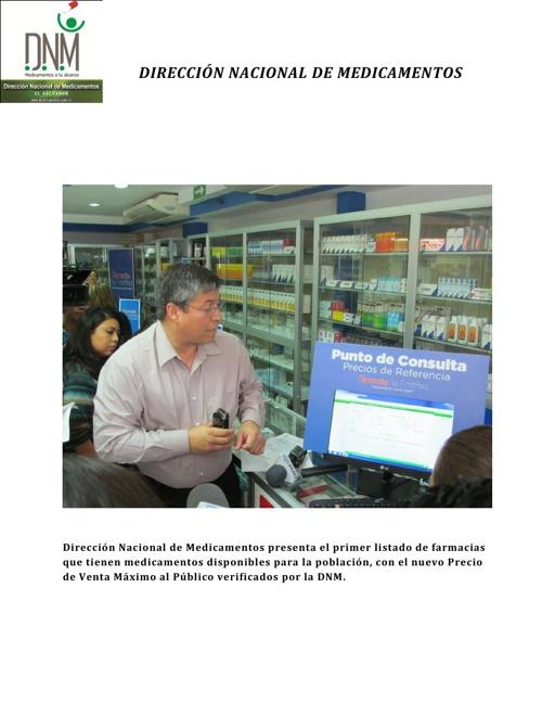 Primer listado de Farmacias que Venden con el nuevo precio
