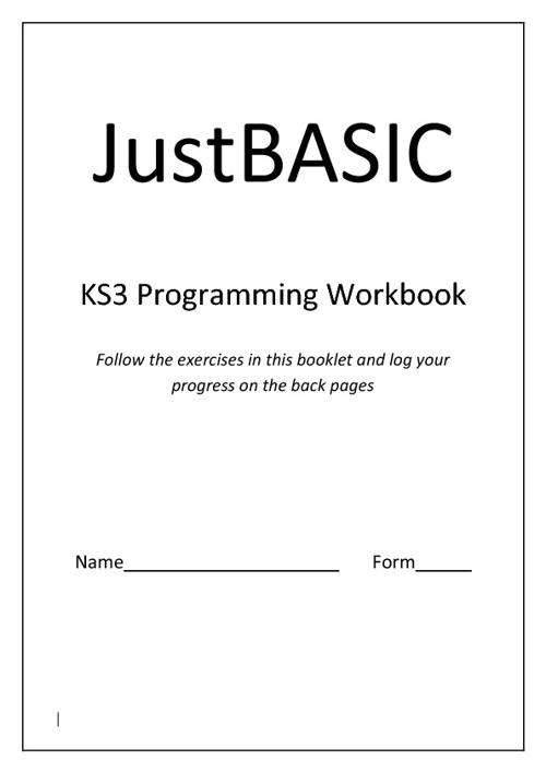 Programming Wookbook for Key Stage 3