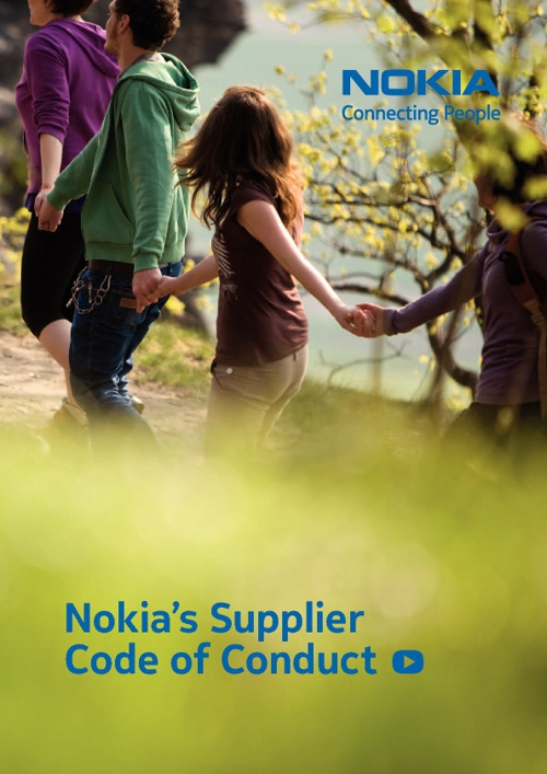 Nokia supplier code of conduct 2012