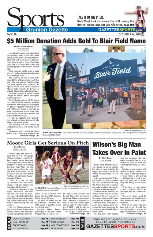 Grunion Sports | December 14, 2017