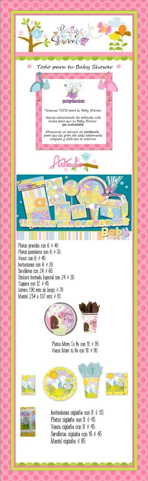 Catálogo Baby Shower