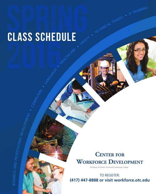 Spring 2016 Catalog - Center for Workforce Development