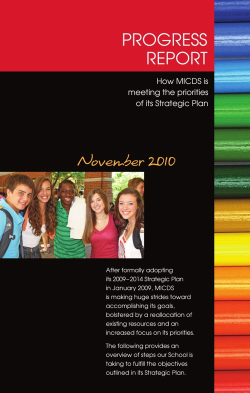 November 2010 Strategic Plan Progress Report