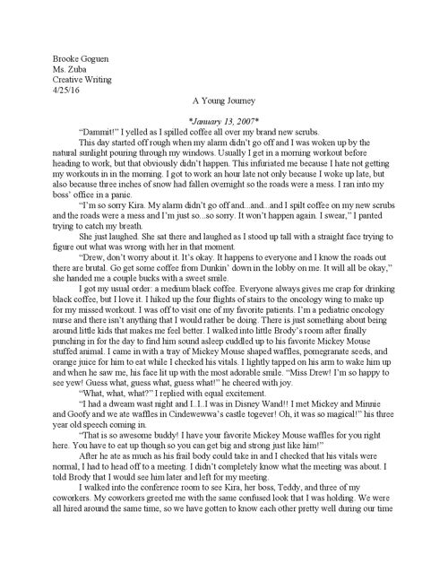 Long Fiction Piece Final Draft