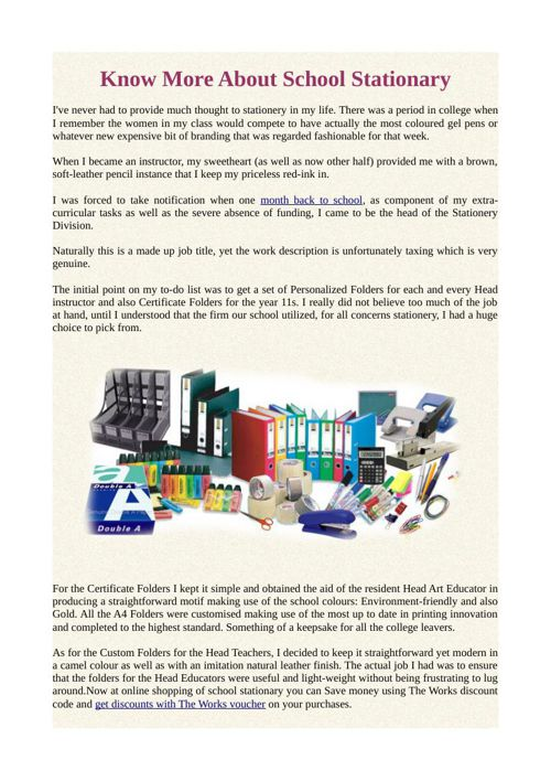 Know More About School Stationary