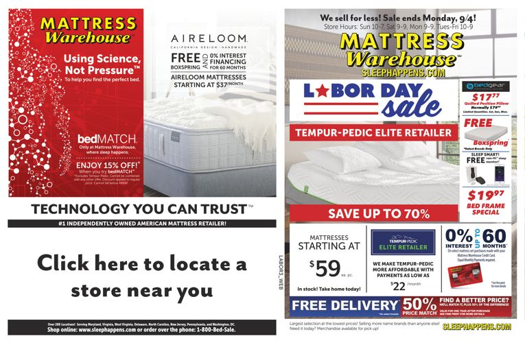 Mattress Warehouse Labor Day Mattress Sale