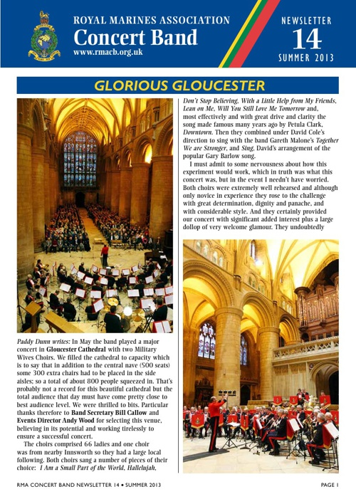 RMA Concert Band Newsletter 14