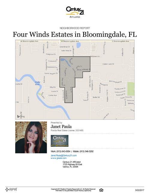 Neighborhood Report for Four Winds Estates