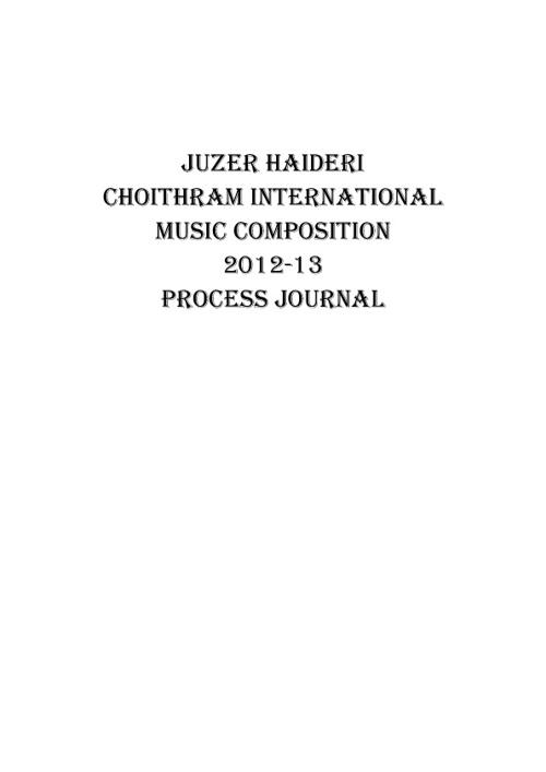 Process Journal !!