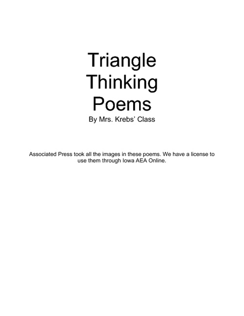 Triangle Thinking Poems