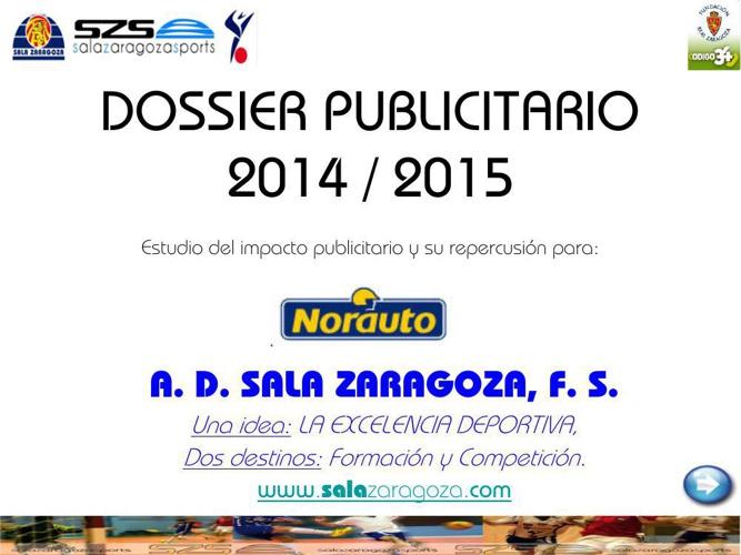 DOSSIER PUBLICITARIO 2014_15 NORAUTO