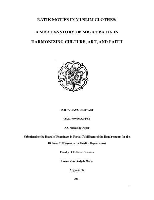 Batik and Islam