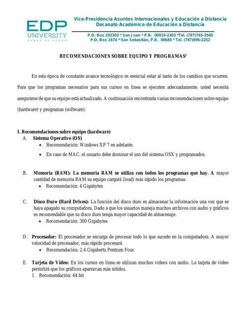 Recomendaciones Equipos y Programas_rev 08_2015