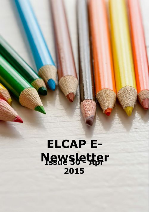 Issue 30 - Apr 2015 - ELCAP E-Newsletter