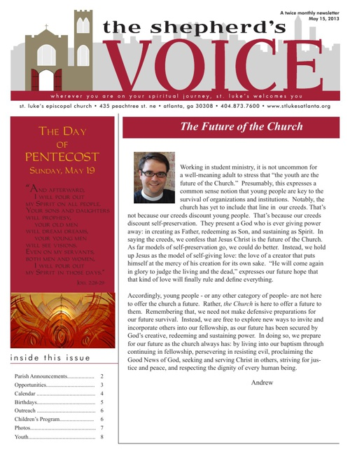 Shepherd's Voice May 15, 2013