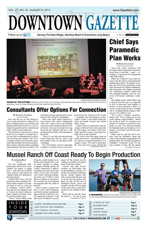 Downtown Gazette  |  August 8, 2014