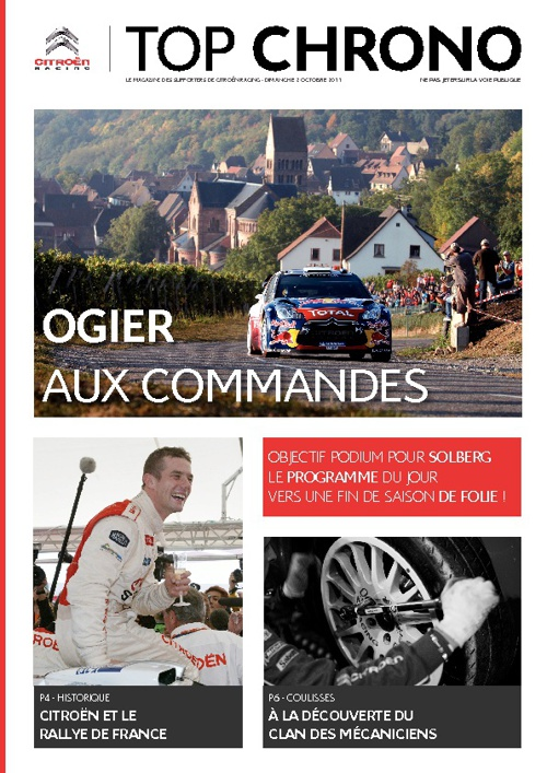Citroën Racing - Top Chrono - Dimanche 2 octobre 2011