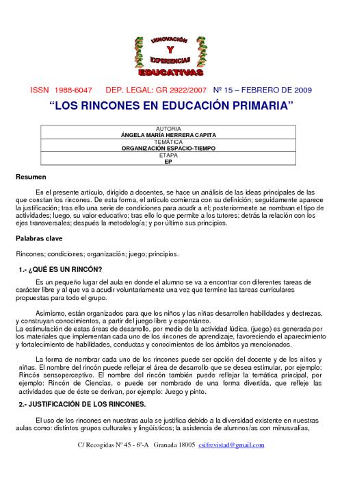New Flip 2Rincones de aprendizaje en primaria