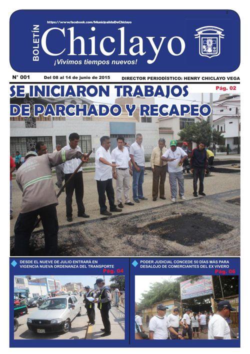 """Boletín """"Chiclayo"""" - N°001"""