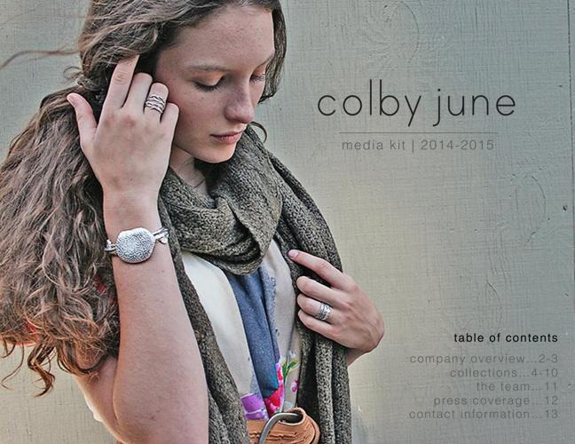 Colby June Jewelry | Media Kit | 2014-2015