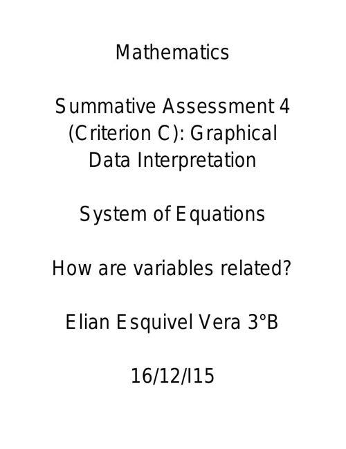 Mathematics project bim2