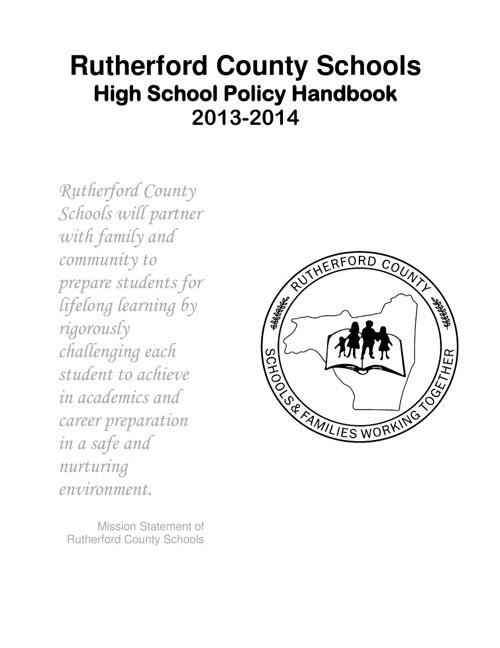 Student Handbook High School 2013-2014
