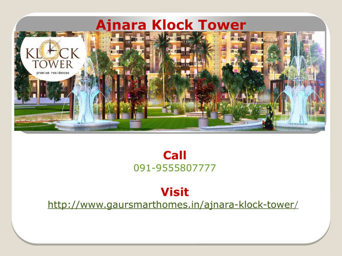 Ajnara Klock Tower Sector-74 Noida