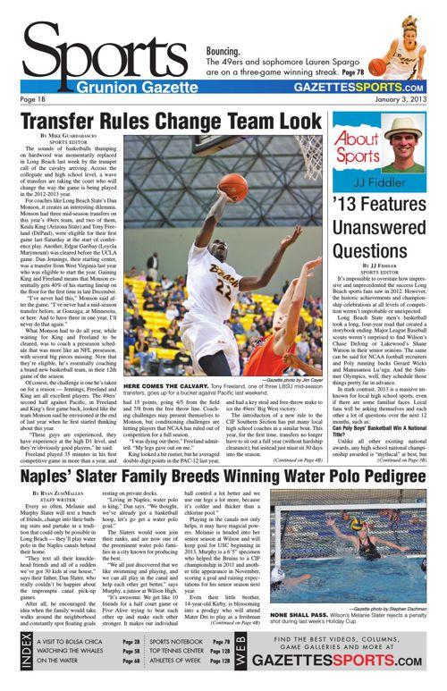 Gazette Sports   January 3, 2013