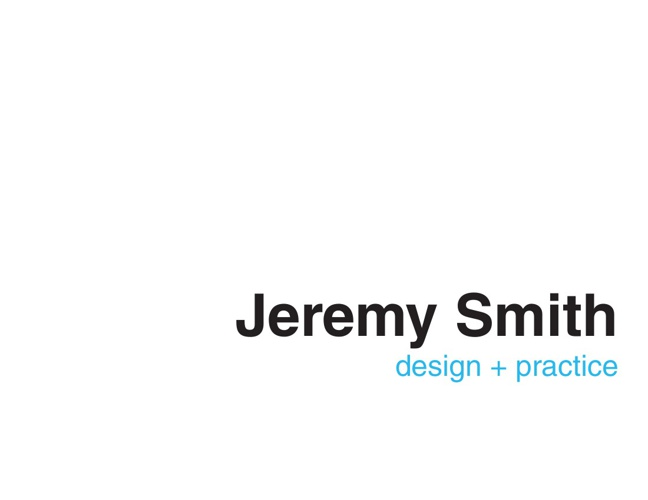 Jeremy Smith Selected Works